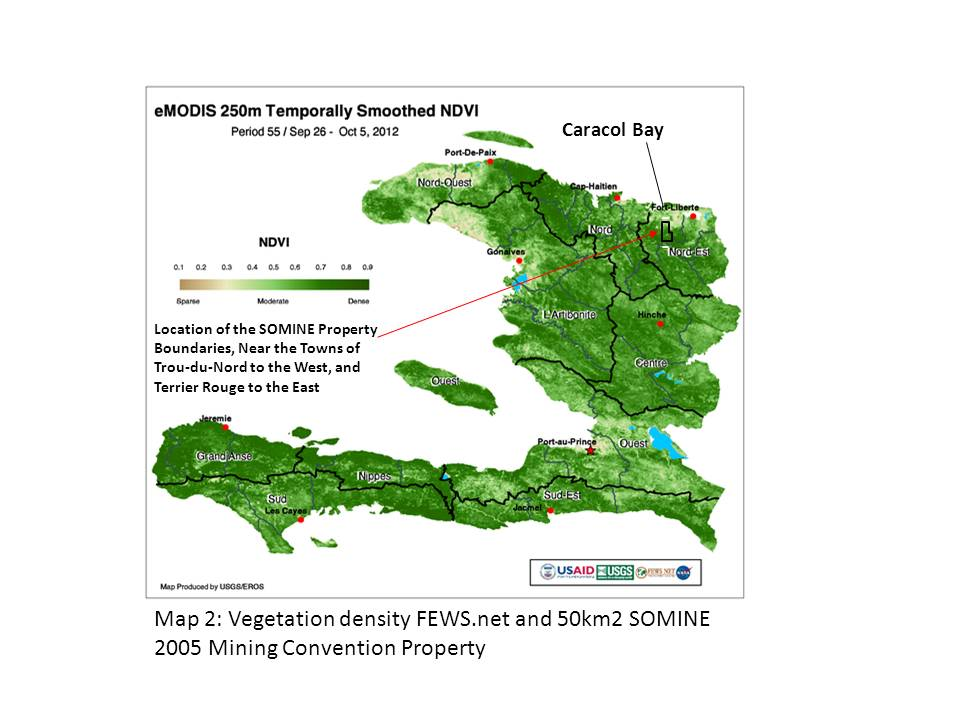 Haitian Highland Clearances and Mining coming the Removals of
