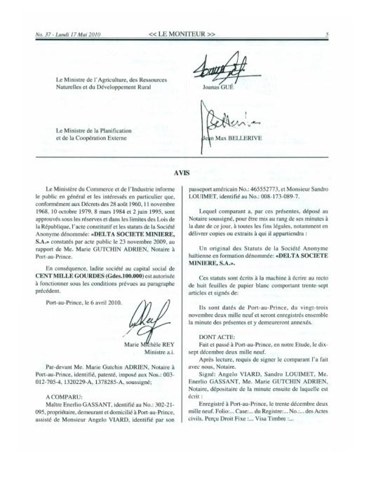 Le Moniteur No 37 Lundi Mai 2010 Page 5