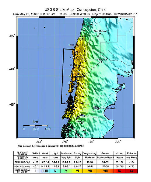 USGS May 22 1960 Concepcion Chile