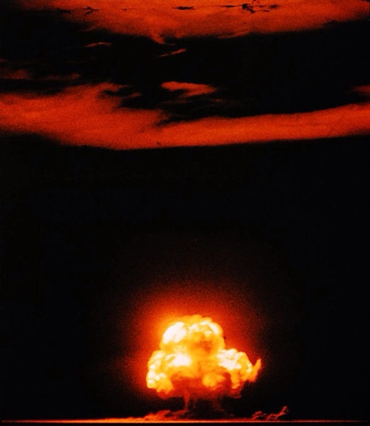 Trinity, First Nuclear Test Explosion, July 16, 1945.  By Jack W. Aeby, Los Alamos laboratory, Manhattan Project