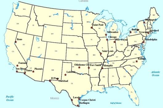 Source: OIG-developed map using Geographic Information System and   Agency-provided information on broken monitors.