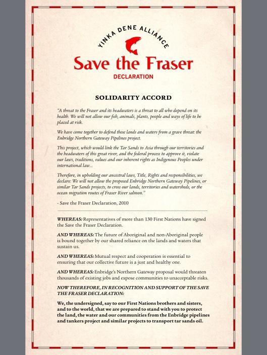Yinka Dene Alliance:  Save the Fraser Declaration