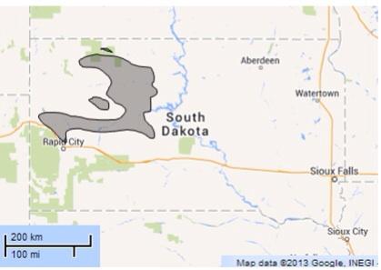 South Dakota vs. Haiti area
