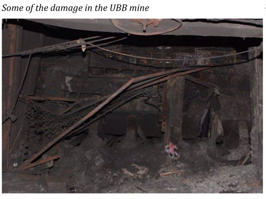 Some of the damage in the Upper Big Branch Mine