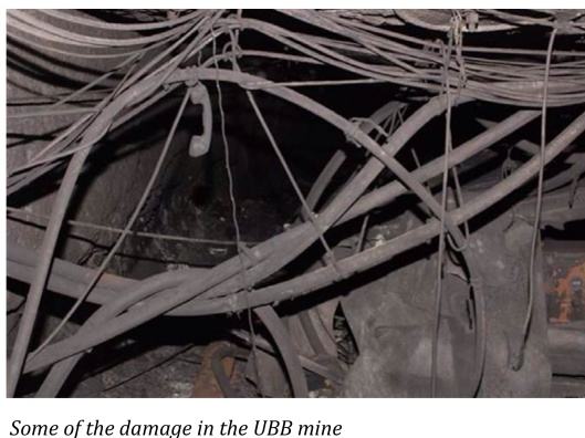 Some damage, incl. phone, Upper Big Branch mine