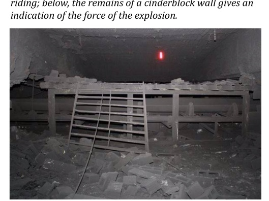 cinderblock wall remains Upper Big Branch Mine