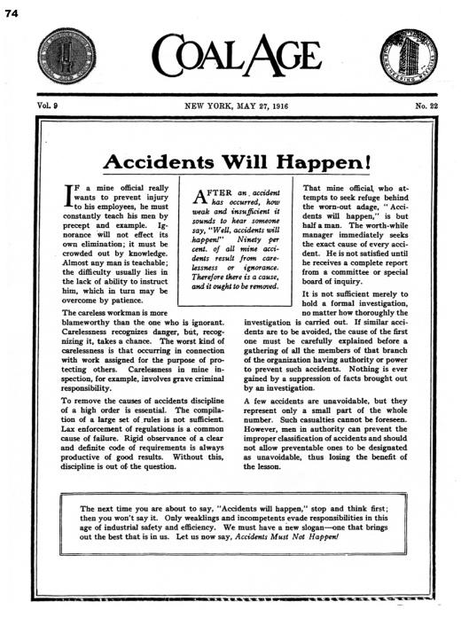 Coal - Accident Must Not Happen