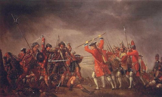 The Battle of Culloden (1746) by David Morier, oil on canvas