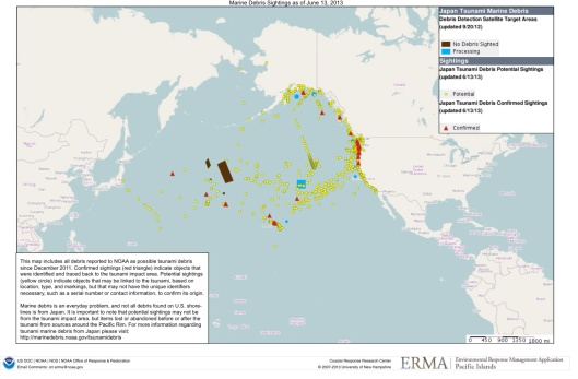 NOAA Fukushima Debris Map