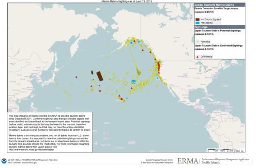 NOAA Fukushima Debris Map
