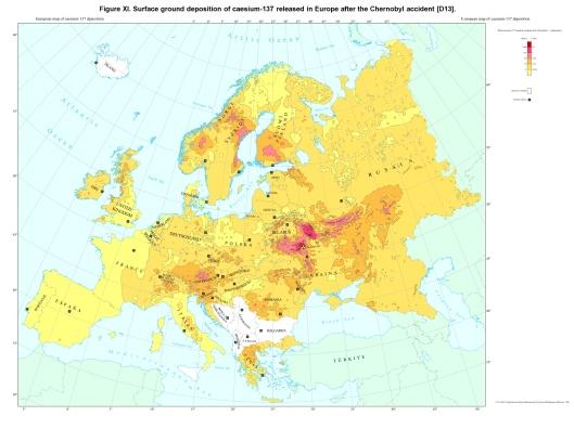 Chernobyl fallout Europe