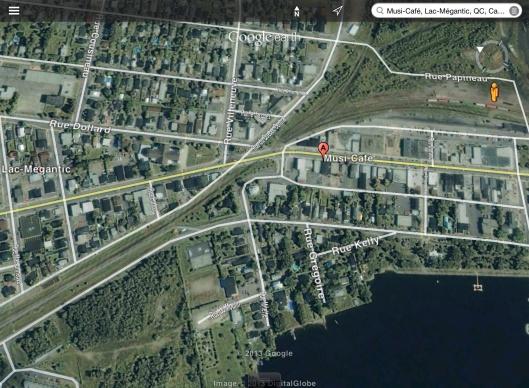 Lac Megantic Quebec zoom into crash area