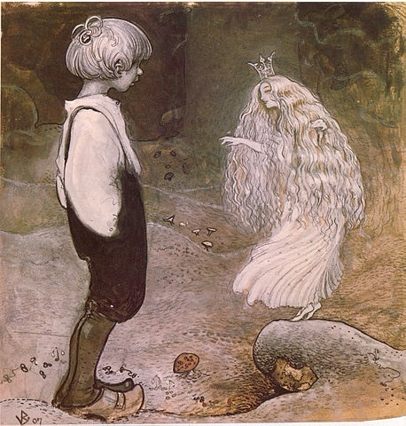Alfred Smedberg's The seven wishes , artist John Bauer, Public Domain