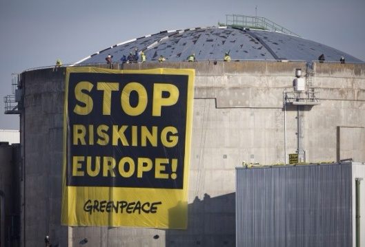 Fessenheim Demo, March 2014, c) Greenpeace / Daniel Mueller