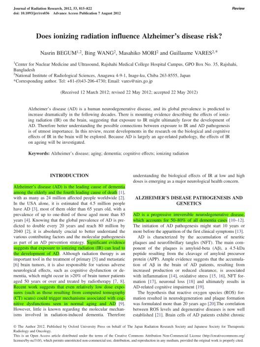 Begum et. al. 2012  (Alz and IR) p. 1