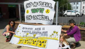 """""""exempt"""" nuke waste in landfill - NO THANKS! image:News and Star 7th June"""