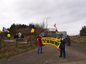 Radiation Free Lakeland at Heysham Fukushima Vigil 2014
