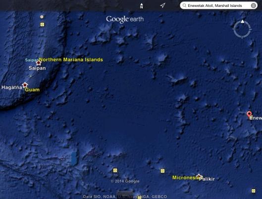 Enewetak Atoll to Guam, Saipan, Rota
