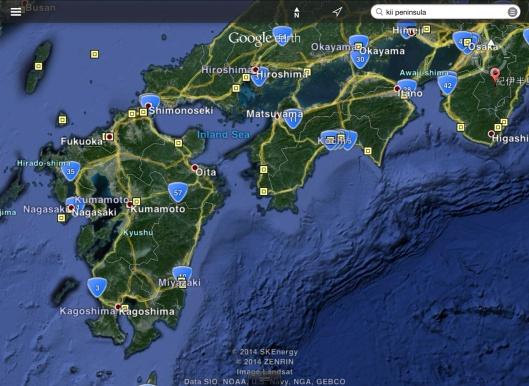 Kii Peninsula Hiroshima Nagasaki