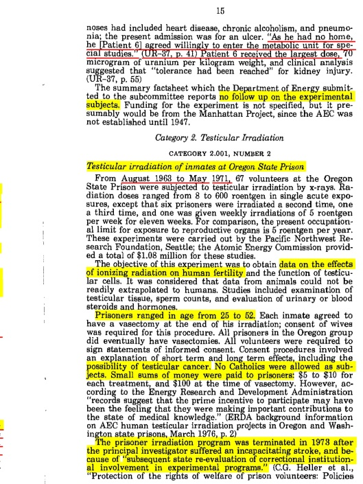 UR-37, p. 2 from American Nuclear Guinea Pigs, US Congress, 1986