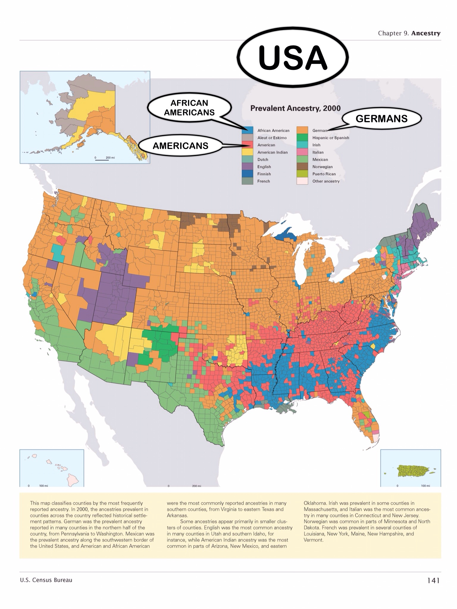Incredibly Detailed Map Shows Race Segregation Across America In - Us map by ethnicity