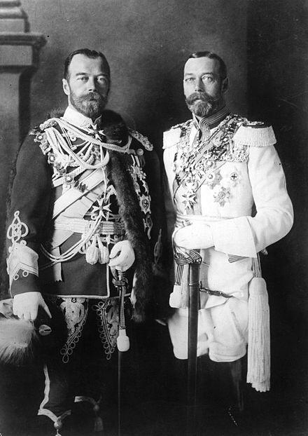 Tsar Nicolas of Russia and George V of England