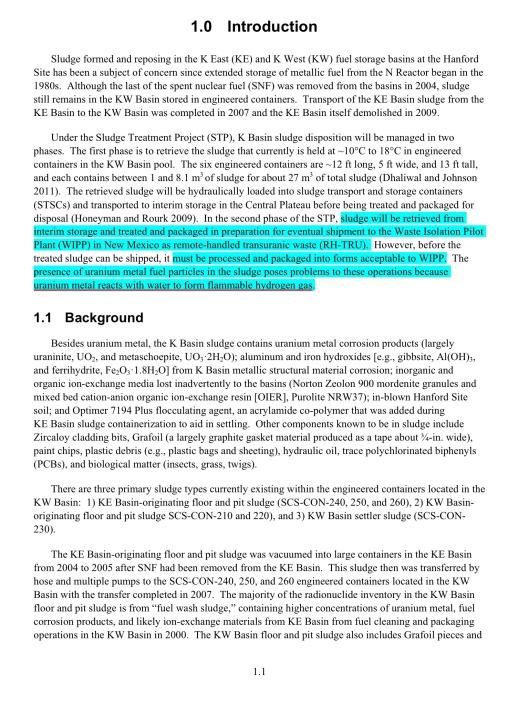 Mitigation of Hydrogen Gas, p. 1.1