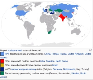 Nuclear and Non Nuclear Weapons States map