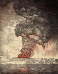 Krakatoa Indonesia 1883 eruption from 1888 image