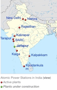Indian Nuclear Power Plants via wikimedia
