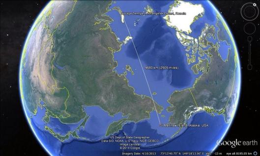Novaya Zemlya to St. Matthew Alaska