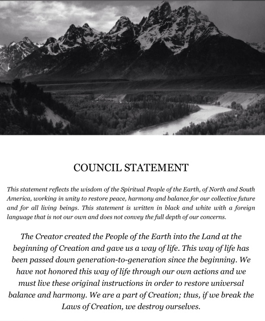 Council Statement Caretakers of Mother Earth p. 1