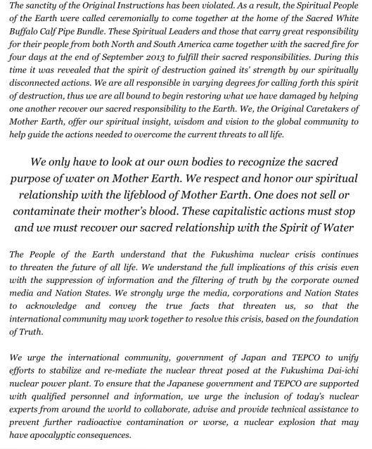Council Statement Caretakers of Mother Earth p. 3