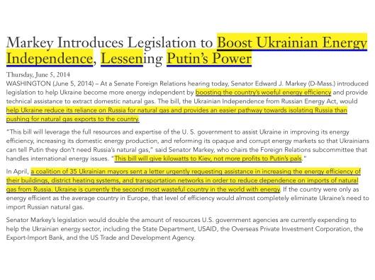 US Sen. Markey on Boosting Ukraine's Energy Independence