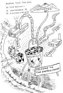 Hole in the Sellafield bucket by Marianne Birkby, Radiation Free Lakeland