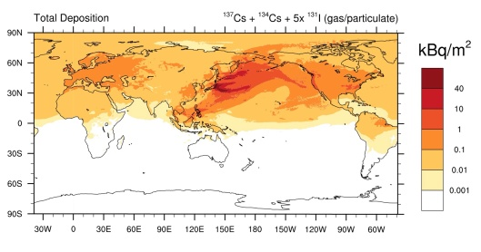 Christoudias, T and Lelieveld, J  (2013) Modelling the global atmospheric transport and deposition of radionuclides from the Fukushima Dai-ichi nuclear accident T. Christoudias1 and J. Lelieveld1,2 Atmos. Chem. Phys., 13, 1425–1438, 2013