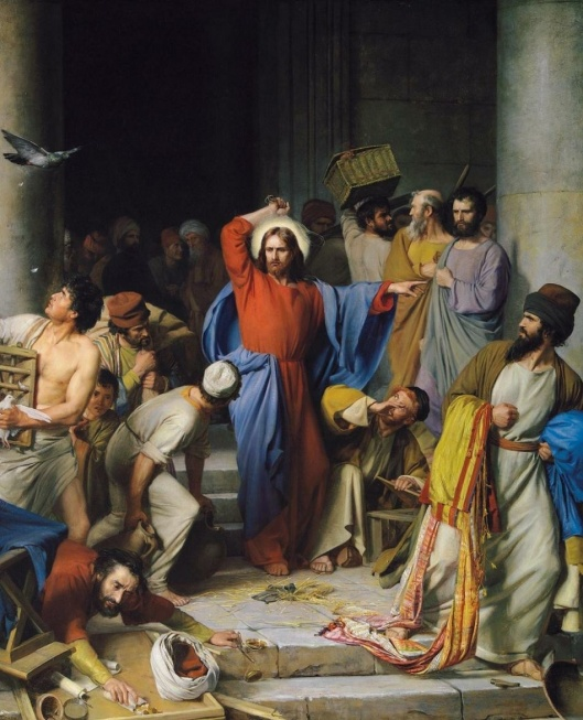 Carl Heinrich Bloch, Jesus Chasing the Money Changers