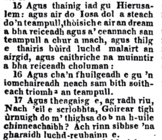 Scots Gaelic Marc 15-17