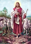 Jesus and the lambs, Good Shepherd