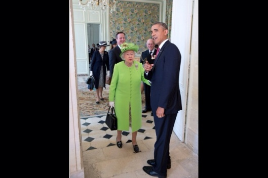 Obama and Queen Elizabeth II 70 yr celebration of D Day June 6 2014 Official White House Photo by Pete Souza