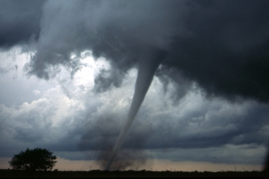 Tornado touching down NOAA