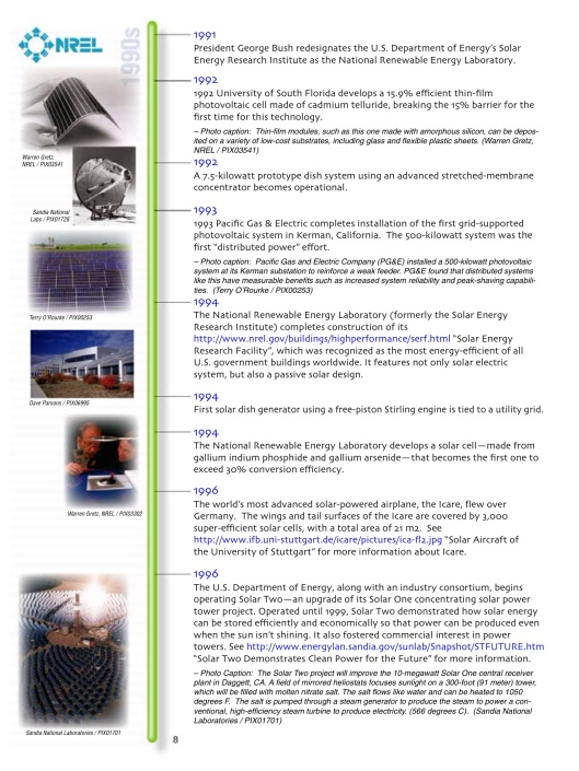 US DOE Solar Timeline, p. 8