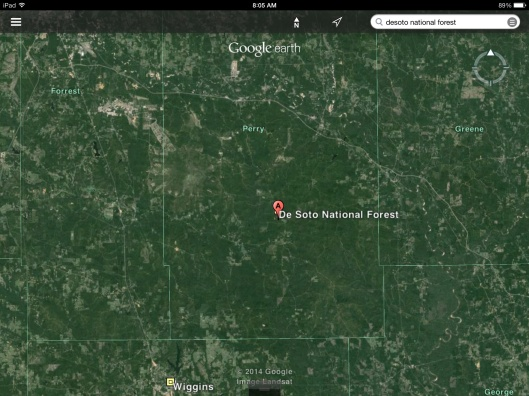 Mississippi is green and forested