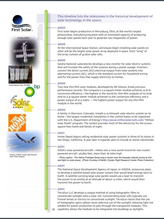 US DOE Solar Timeline p. 10