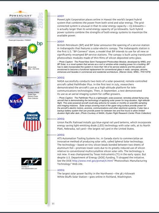 US DOE Solar Timeline p. 11