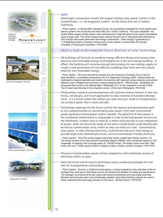 US DOE Solar Timeline p. 12