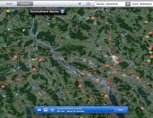 Beznau to Zurich