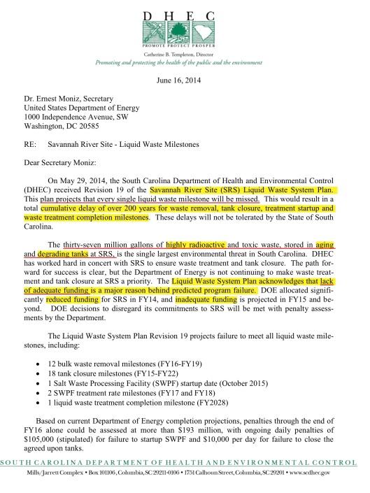 SC fines DOE p. 1