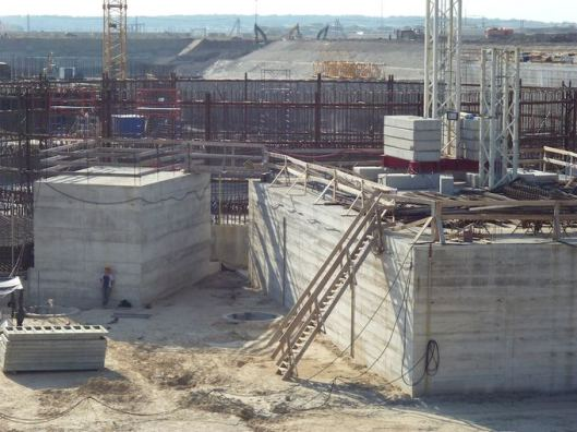 The uncompleted reactors of the Baltic Nuclear Power Plant near Kaliningrad. Ecodefense's campaigning helped end this boondoggle; now the Russian government is targeting Ecodefense.