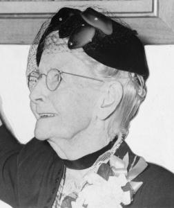 Grandma Moses (1860-1961) in 1953